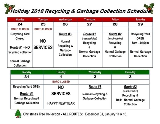 Recycling Holiday 2018