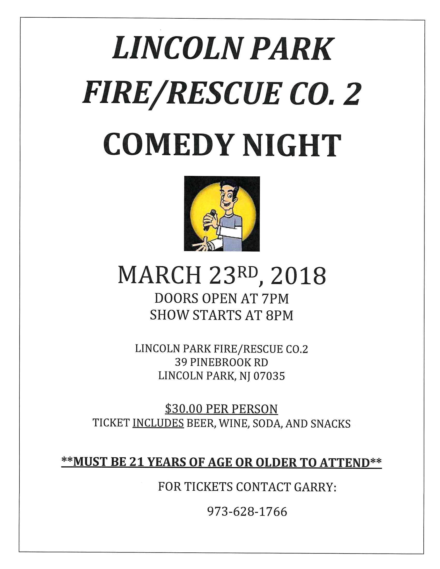 FIRE Comedy Night 3-23-18