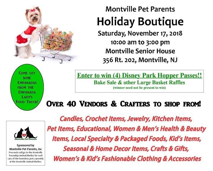 Montville Animal Shelter Holiday Boutique