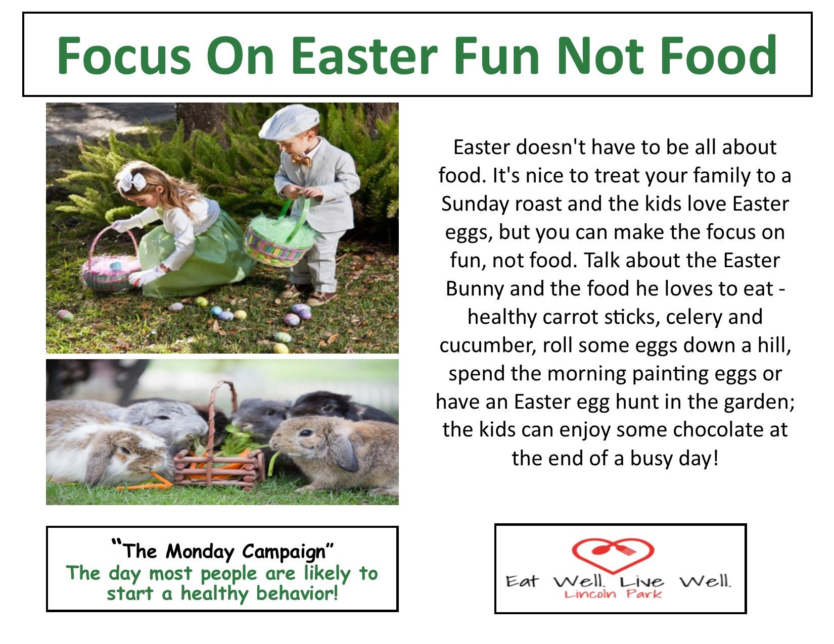Healthy Monday 4-15-19 Easter Fun not Food