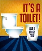 its a toilet not a trash can