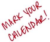 mark you calendars