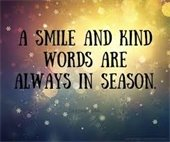 A smile is always in season