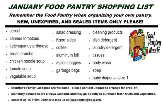 January Food Pantry