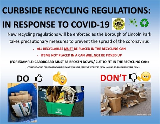 Curbside Recycling Regulations in Response to COVID-19