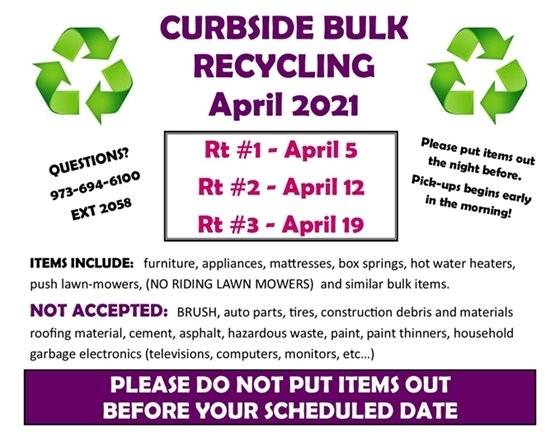 April Bulk Recycling
