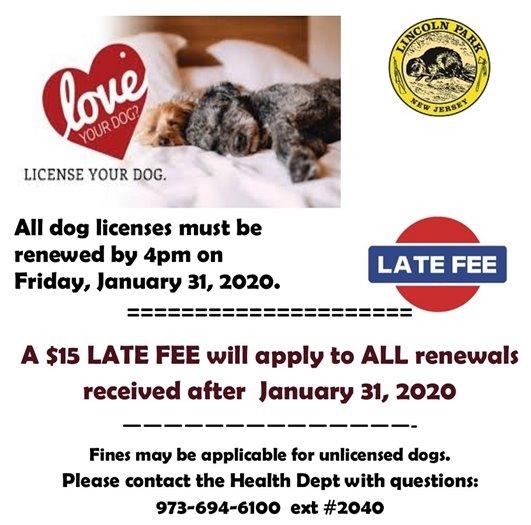 dog license renewal deadline