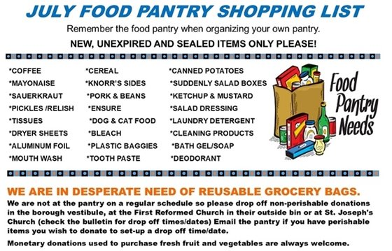 July Food Pantry