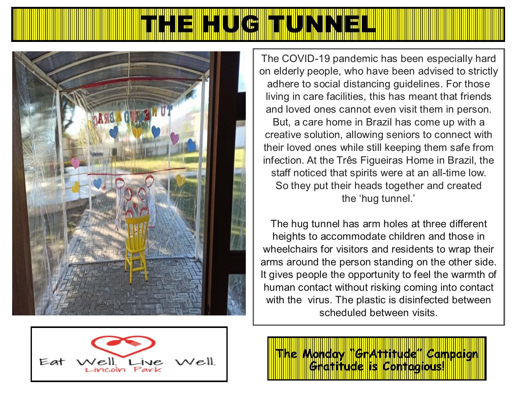 Healthy Monday 6-29-2020 Hug Tunnel